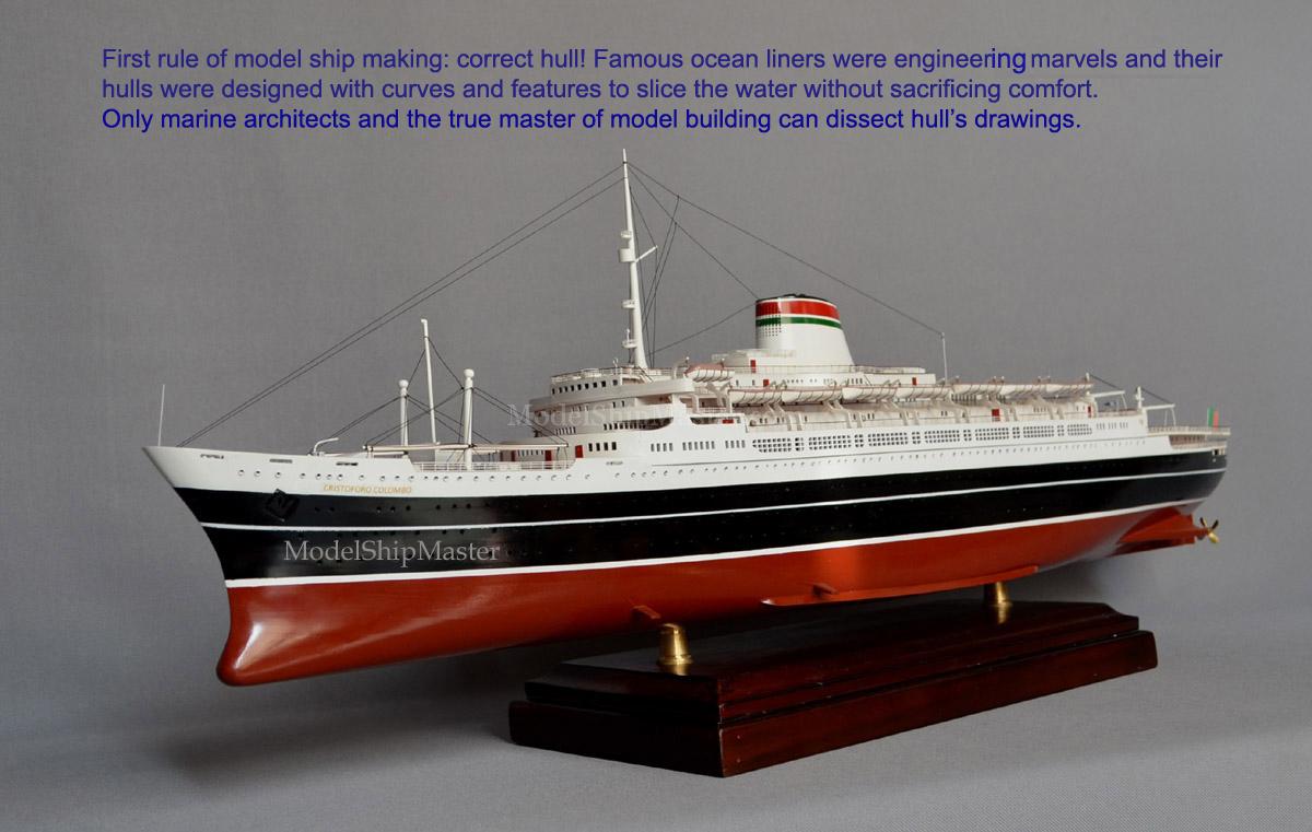 Ss Cristoforo Colombo Ocean Liner Model