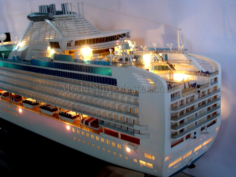 Sapphire Princess Cruise Ship Model